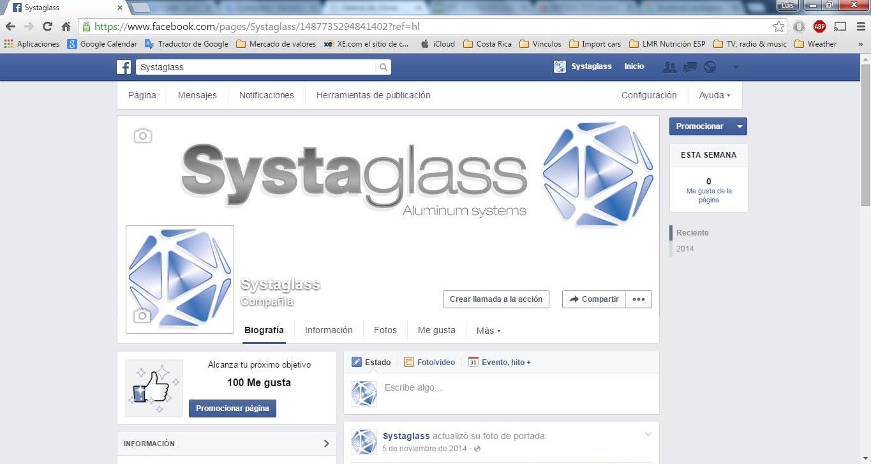 Systaglass en Facebook